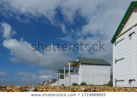 Low angle view of wooden beach huts Stock photo © wavebreak_media