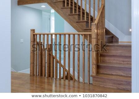 escaleras · pared · de · ladrillo · casa · construcción · pared - foto stock © orla