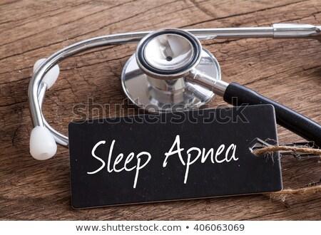Sleep Apnea Diagnosis. Medical Concept. Stock photo © tashatuvango
