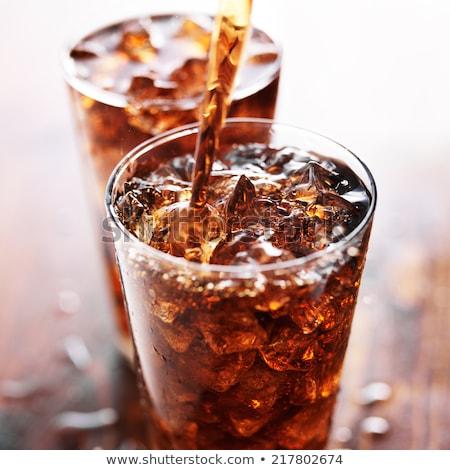 Cola · стекла · льда · синий · продовольствие - Сток-фото © stokkete