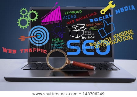 laptop screen with website optimization concept 3d stock photo © tashatuvango