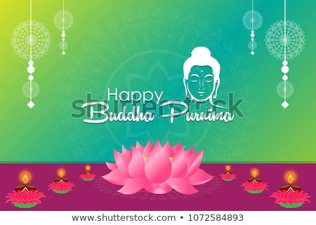 banner buddha purnima Stock photo © Olena