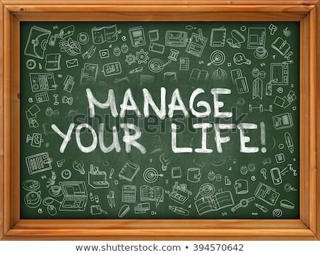 変更 · 生活 · 男 · 単語 · 黒板 · ビジネス - ストックフォト © tashatuvango