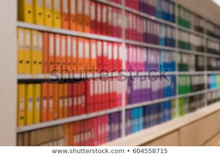 Conocimiento archivo carpeta borroso imagen ilustración Foto stock © tashatuvango