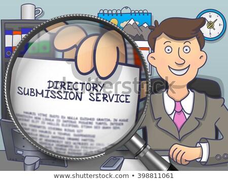 Directory Submission Service through Lens. Doodle Style. Stock photo © tashatuvango