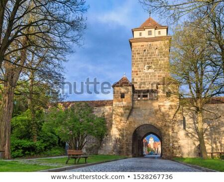 ворот город стены синий путешествия Skyline Сток-фото © benkrut