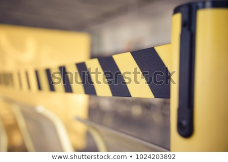 Restricted area Yellow Barrier Tape Stock photo © njnightsky