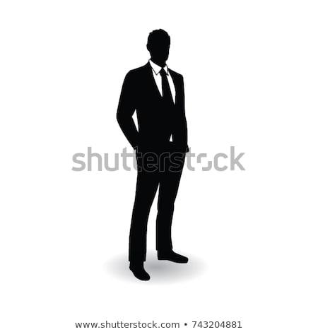 Shadow businessman Stock photo © alphaspirit