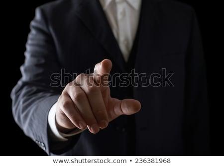 fiatal · üzletember · kisajtolás · virtuális · gombok · üzlet - stock fotó © elnur
