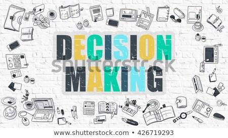 Decision Making in Multicolor. Doodle Design. Stock photo © tashatuvango