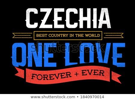 Sport fan Tsjechische Republiek hart vlag land Stockfoto © rogistok