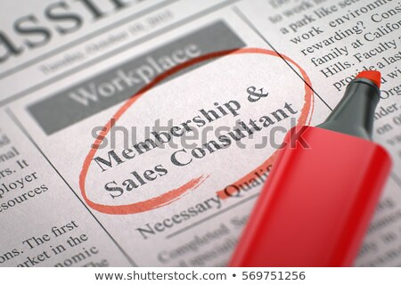Stock photo: Membership and Sales Consultant Job Vacancy. 3D.