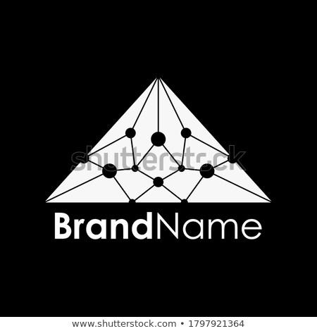 ストックフォト: 三角形 · 自然 · 石 · 行 · 光 · 薄い