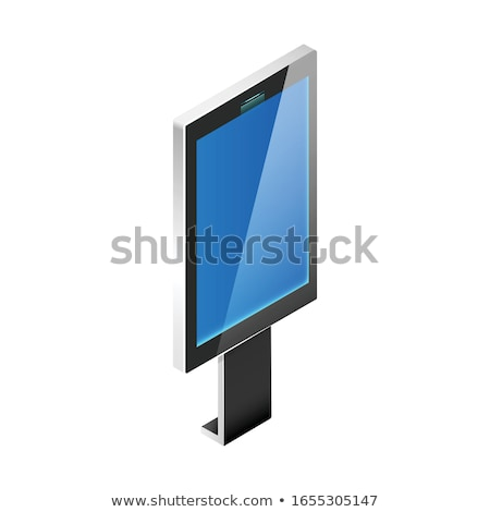 Information display board isometric element Stock photo © studioworkstock