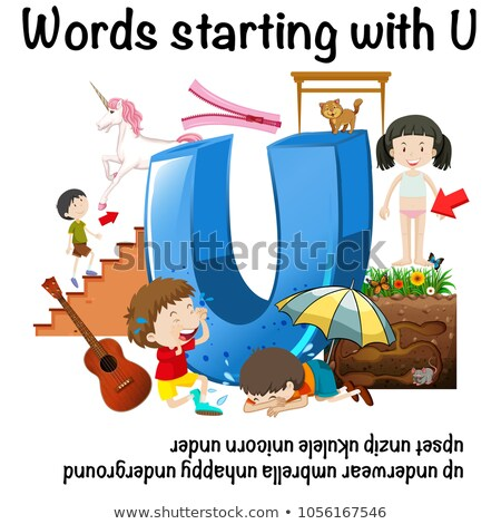Poster design forwords starting with U Stock photo © bluering