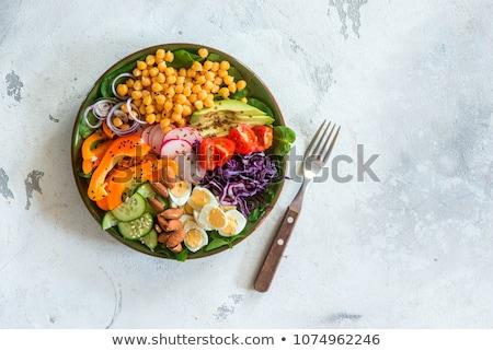 Sağlıklı öğle yemeği organik vejetaryen yemek yaz Stok fotoğraf © konradbak