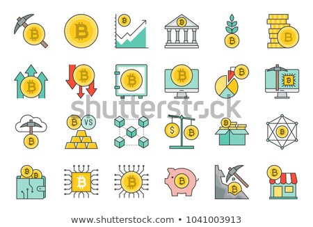 Bitcoin moneda creciente tabla icono gráfico Foto stock © ikopylov
