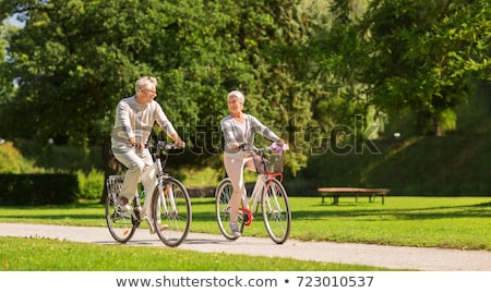 senior couple with basket stock photo © is2