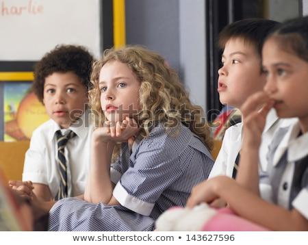 Studentessa seduta classe scuola ragazza Foto d'archivio © wavebreak_media