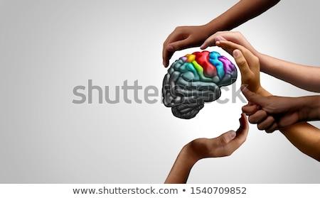 autista · gyermek · autizmus · spektrum · puzzle · alakú - stock fotó © lightsource