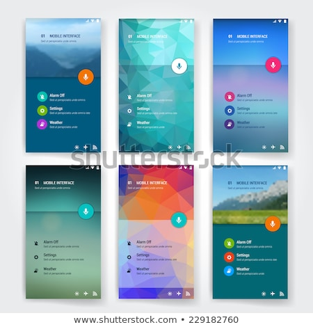 Voice user interface icon set stock photo © frimufilms