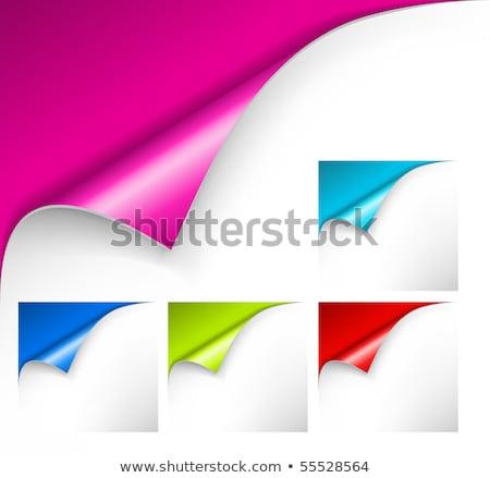 Color papel esquinas establecer gradiente Foto stock © barbaliss