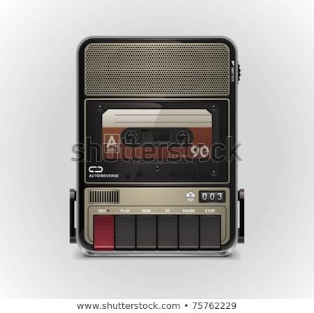 Boombox retro isolated. tape recorder Vector illustration Stock photo © popaukropa