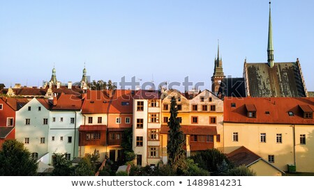 St. Bartholomew Church and Green Tower in Pardubice Stock photo © benkrut