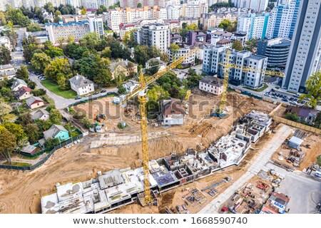 ev · yeni · tel · hazır · beton - stok fotoğraf © feverpitch