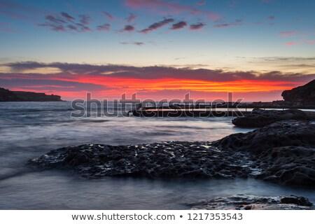 Amanecer Sydney Australia local suburbio océano Foto stock © lovleah