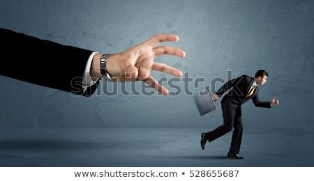 деловой · человек · большой · Перейти · изолированный · бизнеса · счастливым - Сток-фото © ra2studio