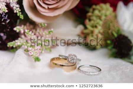 Gold Stylish Jewelery Accessory Item Romantic Ring Stock photo © robuart
