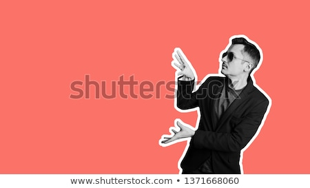Stressful Man in Modern Office Colorful Banner Stock photo © robuart
