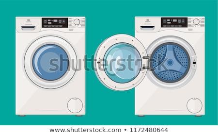 стиральная машина закрыто двери изолированный цвета белый Сток-фото © MaryValery