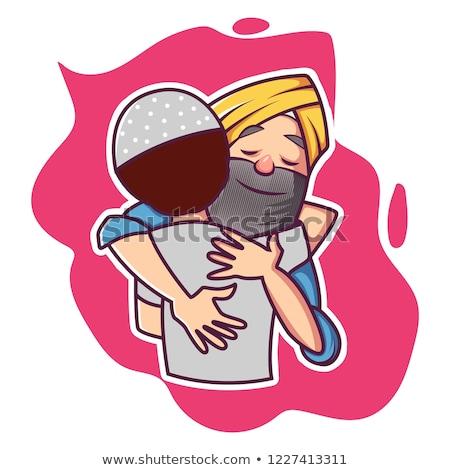 Desenho animado sikh humor ilustração pronto dar Foto stock © cthoman