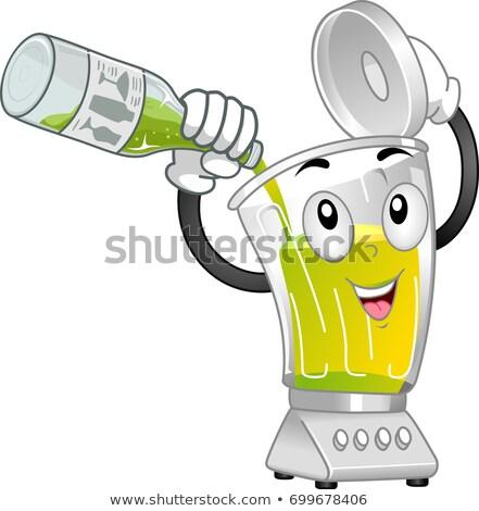 ブレンダー マスコット 石灰 ジュース 実例 ストックフォト © lenm