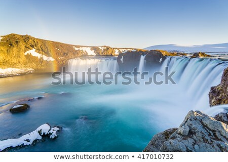 Godafoss waterfall and rainbow, Iceland Landscape Stock photo © Kotenko