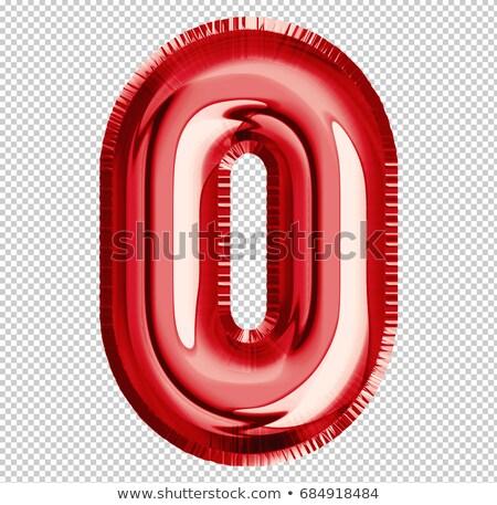 красный шрифт числа нулевой 3D Сток-фото © djmilic