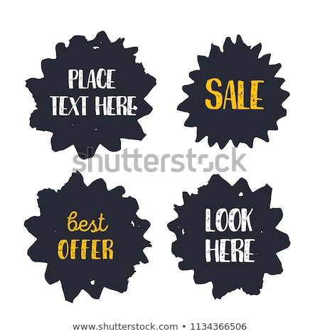 Final or Total Clearence Autumn Labels, Discounts Stock photo © robuart