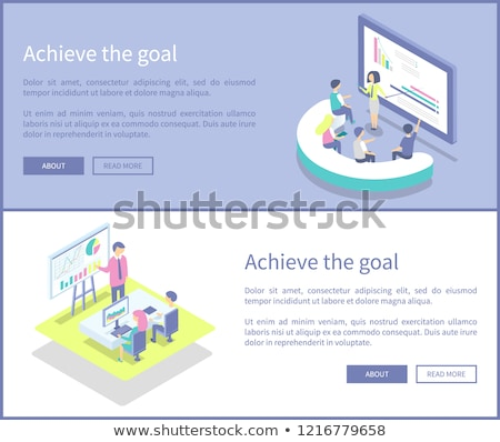Achieve Aim Whiteboard Monitor Vector Illustration Stock photo © robuart