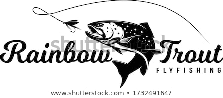 Rainbow Trout with Green Fish Vector Illustration Stock photo © robuart