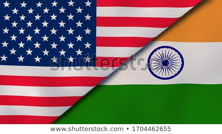 two waving flags of united states and india stock photo © mikhailmishchenko