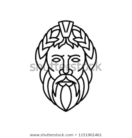 Zeus God of Sky and Thunder Mono Line Stock photo © patrimonio