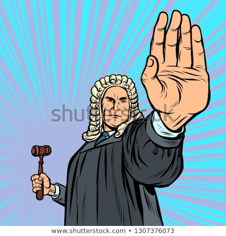 judge with a hammer stop gesture Stock photo © studiostoks