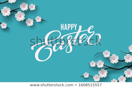 happy easter background composition design stock photo © solarseven