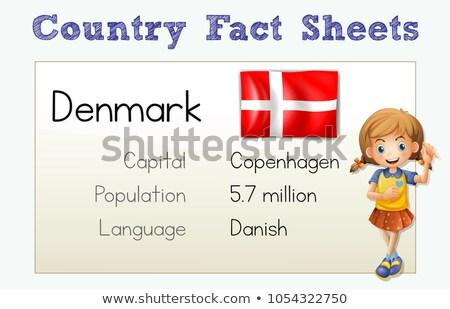 País fato folha Dinamarca ilustração feliz Foto stock © colematt