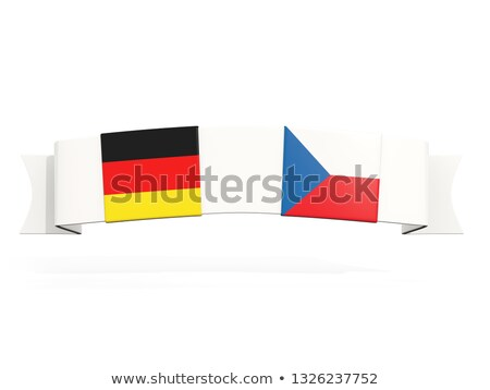 Banner with two square flags of Germany and czech republic Stock photo © MikhailMishchenko