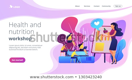 eszik · kettő · különböző · lány · diák · szépség - stock fotó © rastudio