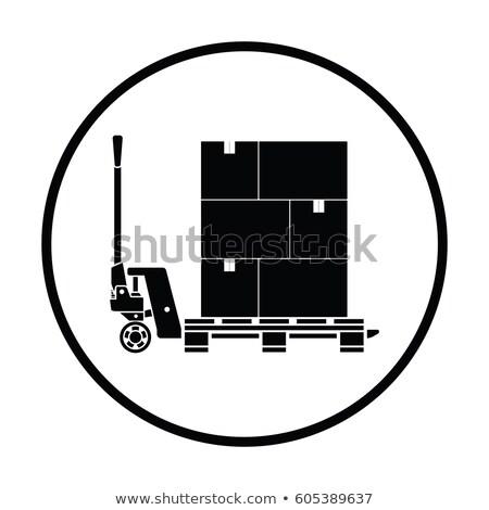 гидравлический · икона · грузовика · окна · промышленности · инструментом - Сток-фото © angelp
