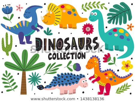 Cute dinosaures personnage illustration fond Photo stock © bluering